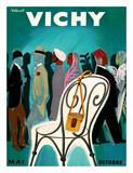 Vichy, France - Resorts and Spas - May through October (Mai-Octobre) Lámina giclée por Bernard Villemot