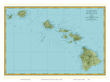 Rand McNally Atlas Map of Hawaii Prints by  Pacifica Island Art