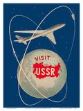 Visit the U.S.S.R. - Soviet Sputnik Satellites - Russian Antonov Aircraft Prints by Anatoliy Antonchenko