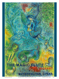 The Magic Flute - Mozart - Metropolitan Opera Poster von Marc Chagall