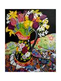 Canal Boat Jug, Daffodils and Tulips, 2005 Impression giclée par Joan Thewsey