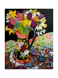 Canal Boat Jug, Daffodils and Tulips, 2005 Giclee Print by Joan Thewsey