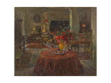 Grand Salon with Red Roses Giclee Print by Susan Ryder