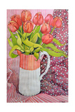 Tulips in a Pink and White Jug, 2005 Giclee Print by Joan Thewsey
