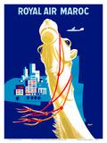 Royal Air Morocco (Maroc) Airlines Poster por  Seguin