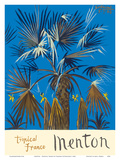 Menton - Tropical France - Palm Tree Posters by Graham Sutherland