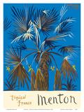 Menton - Tropical France - Palm Tree ポスター : グラハム・サザーランド