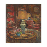 Oak Room Lamps Giclee Print by Susan Ryder