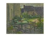 Courtyard Drinks, Champfreau Giclee Print by Susan Ryder