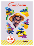 KLM to the Caribbean - KLM Royal Dutch Airlines Posters by Leendert Spierenburg