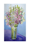Foxgloves and Campanulas, 2005 Giclee Print by Joan Thewsey