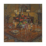 Dining Room with Geraniums Giclee Print by Susan Ryder