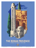 The Roman Provence - Cradle of French Culture - Paris-Lyon-Mediterrannee (PLM), French Railroad Posters by Lajos Márton