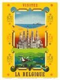 Visit Belgium (Visitez La Belgique) Posters by  Schell