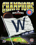 Chicago Cubs 2016 World Series Champions W Flag Composite Photo