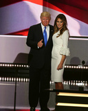 Presidential candidate Donald Trump and his wife, Melania Trump, during RNC July 18, 2016 Fotografía
