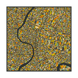 Bangkok Map Print by Jazzberry Blue