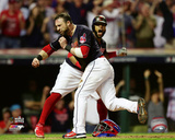 Jason Kipnis scores on a wild pitch during Game 7 of the 2016 World Series Photo