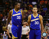 Kevin Durant & Stephen Curry 2016-17 Action Photo