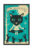 Tarot Card Cat: The Magician Print by Jazzberry Blue