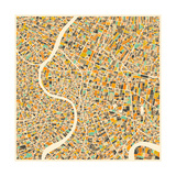 Bangkok Map Premium Giclee Print by Jazzberry Blue