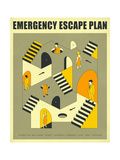 Emergency Escape Plan 3 Posters by Jazzberry Blue