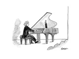 Grand piano held open with human arm. - New Yorker Cartoon Premium Giclee Print by Ken Krimstein