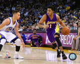 Stephen Curry & D'Angelo Russell 2015-16 Action Photo
