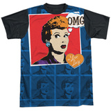 I Love Lucy- Omg Black Back T-shirts
