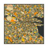 Dublin Map Prints by Jazzberry Blue