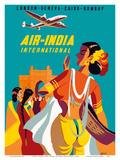 London, Geneva, Cairo, Bombay - Air India International Prints by  Asiart