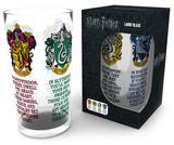 Harry Potter - House Crests 500 ml Glass Regalos