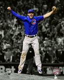Kris Bryant celebrates the final out of Game 7 of the 2016 World Series Spotlight Photo