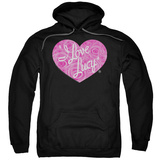 Hoodie: I Love Lucy- Floral Logo Pullover Hoodie