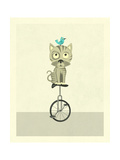 Balancing Cat Premium Giclee Print by Jazzberry Blue
