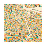 Amsterdam Map Premium Giclee Print by Jazzberry Blue