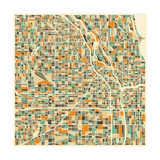 Chicago Map Prints by Jazzberry Blue
