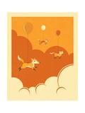 Flock of Foxes Plakater af Jazzberry Blue
