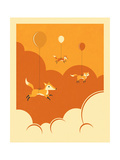 Flock of Foxes Print by Jazzberry Blue
