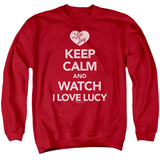 Crewneck Sweatshirt: I Love Lucy - Keep Calm And Watch T-Shirt
