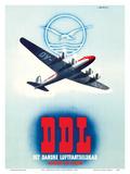 DDL - Danish Air Lines (Det Danske Luftfartselskab) Posters by Finn Bjørvig