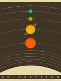 Sonnensystem Giclée-Premiumdruck von Jazzberry Blue