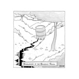 TITLE: Headwaters of the Gowanus Canal Waste bucket is the source for the ... - New Yorker Cartoon Premium Giclee Print by Jack Ziegler