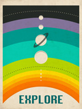 Solar System Posters by Jazzberry Blue
