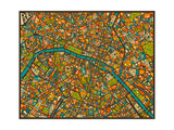 Paris Street Map Prints by Jazzberry Blue