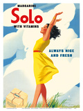 Solo Margarine - With Vitamins - Always Nice and Fresh Print by  Pacifica Island Art