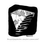 """No way am I going down there—what if there's a comments section"" - New Yorker Cartoon Premium Giclee Print by Liam Walsh"