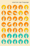 Sign Language Hand Alphabet Poster by Jazzberry Blue