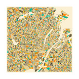 Copenhagen Map Prints by Jazzberry Blue