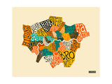 London Boroughs Poster by Jazzberry Blue